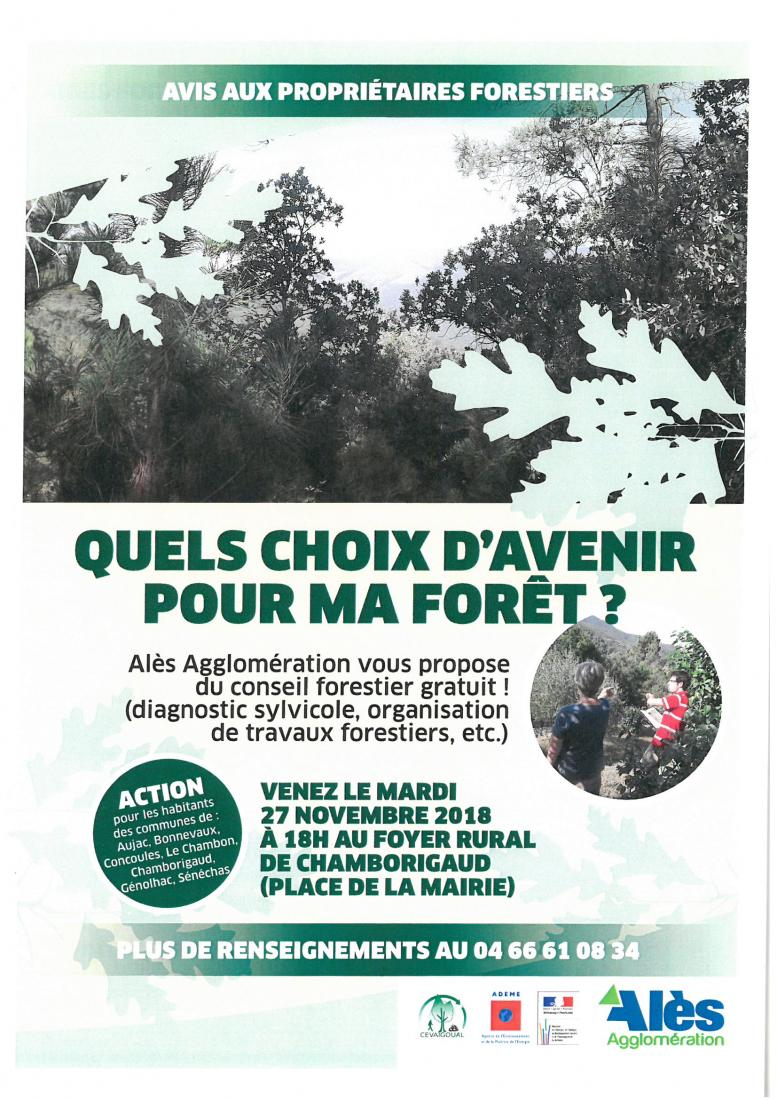 AVIS AUX PROPRIETAIRES FORESTIERS